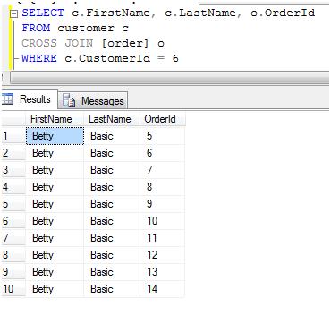 Using INNER JOIN versus CROSS JOIN in SQL